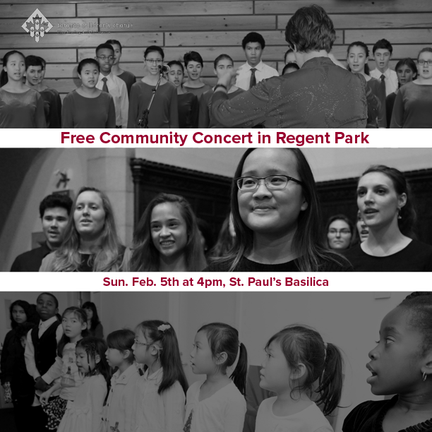 Join us at our FREE Community Concert in Regent Park with Dixon Hall Music School Choir, February 5th